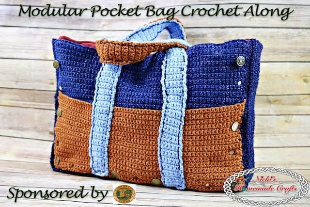 Modular Pocket Bag Crochet Along Free Crochet Pattern Nickis