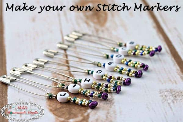 Make your own Stitch Markers - Crochet Tutorial DIY by Nicki's Homemade Crafts #crochet #tutorial #stitchmarkers #beads #beading #howto #diy