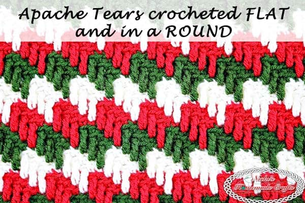 Apache Tears made Round and Flat – Crochet Stitch Tutorial