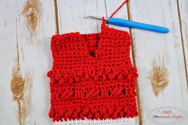 finish the leg part for the Adult Christmas Santa and Elf Booties - Free Crochet Pattern