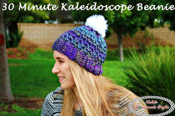 6f7e773b8cd1c How to Quickly Crochet a 30 Minute Kaleidoscope Beanie - Free Pattern