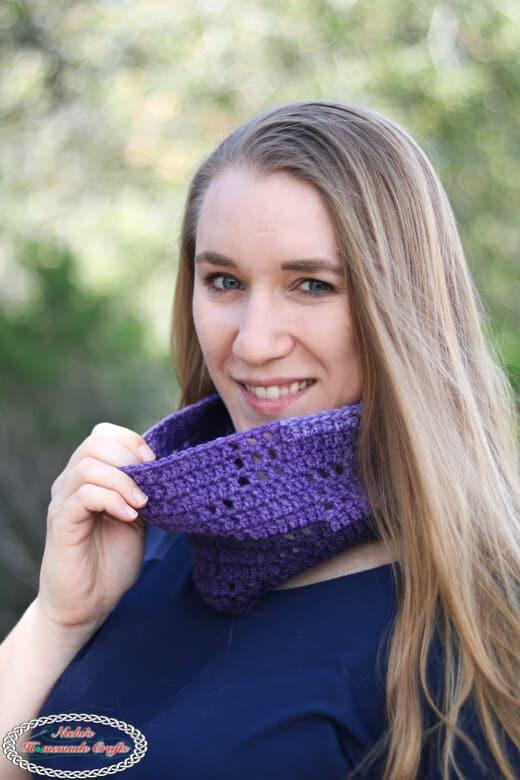 Filet Crochet Scarf free pattern