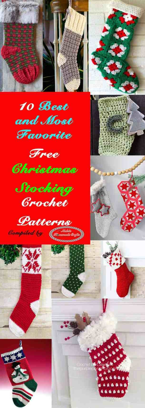 10 best and most favorite christmas stocking free corchet patterns by nickis homemade crafts crochet
