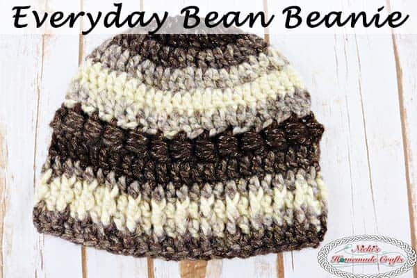 Everyday Bean Beanie – Free Crochet Pattern