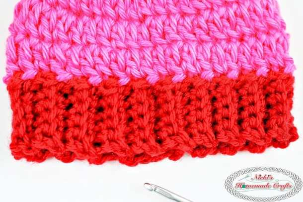 b129e63c5 The Perfect Ribbed Brim for a Top Down Beanie (Crochet Tutorial ...