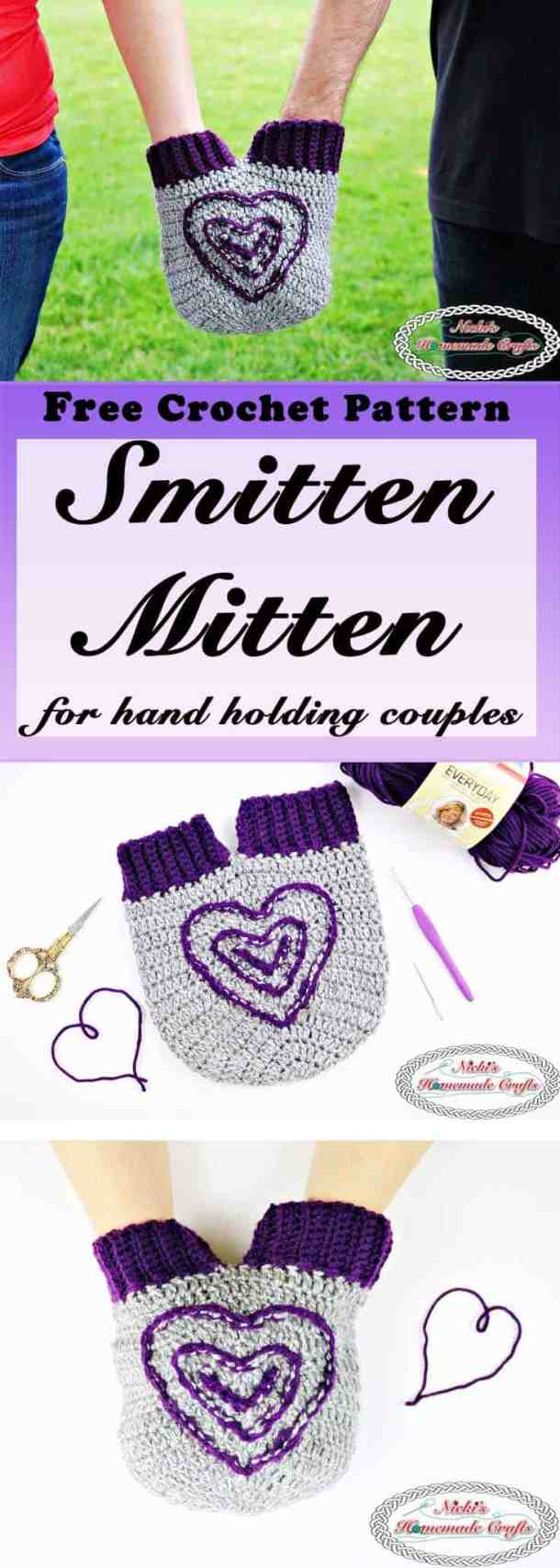 Crochet a Smitten Mitten for Holding Hands - Free Pattern - Nicki\'s ...