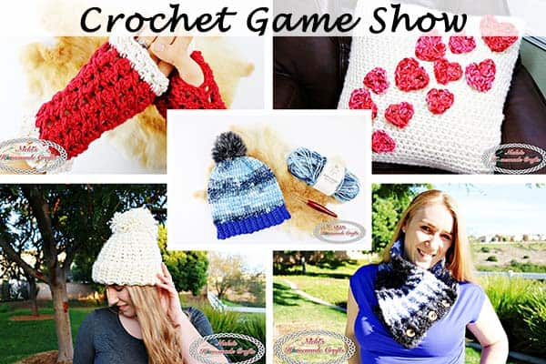 The monthly Crochet Game Show Giveaway where you can win 5 Pdf Patterns for February is hosted by Nicki's Homemade Crafts