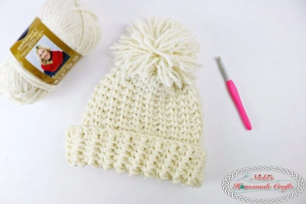 Chunky Knit-Like Hat which is a Free Crochet Pattern by Nicki's Homemade Crafts