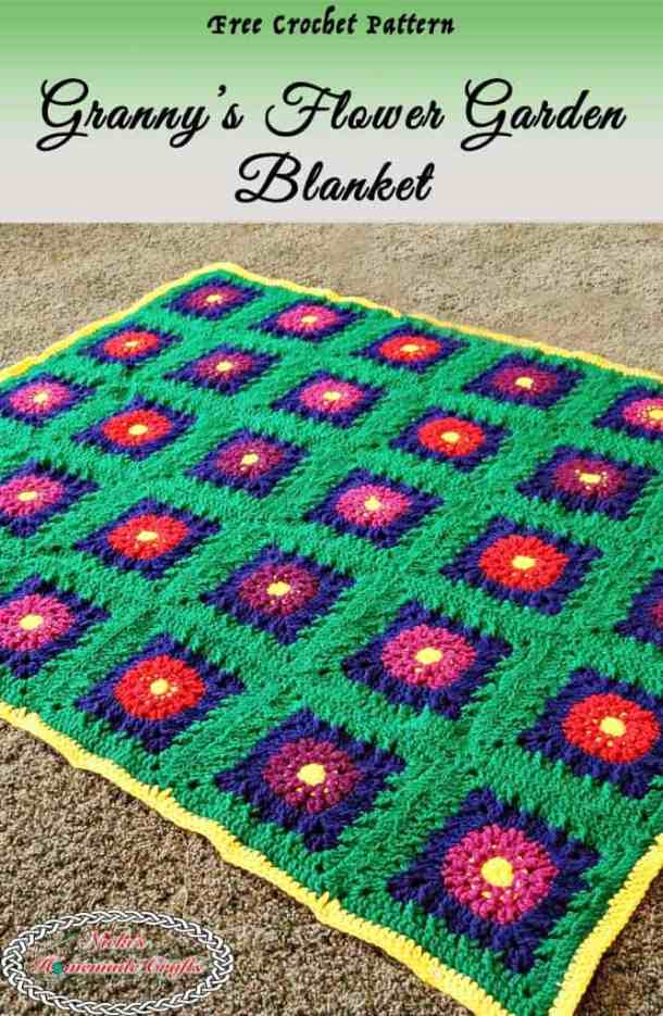 Grannys Flower Garden Blanket Free Crochet Along Nickis