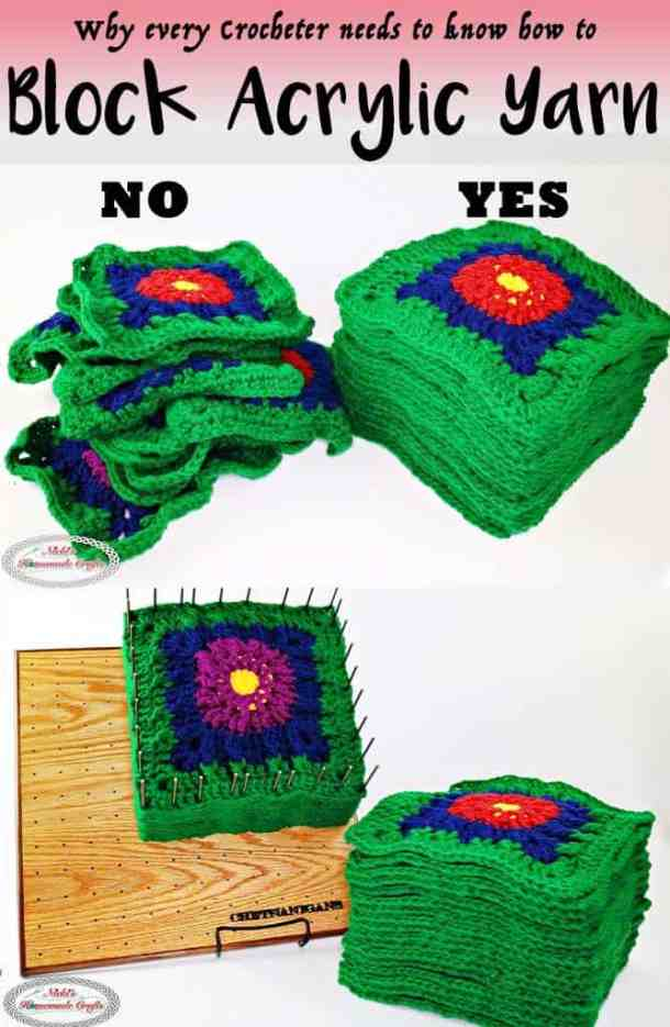 Blocking Acrylic Yarn with Steam and Blocking Board - DIY Crochet and Knitting Tutorial - blankets, granny square, block, yarn, blocking, blocking board, review, chetnanigans, handmade, easy, steamer, avoid, make, successful, right, wrong