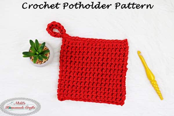 Free Crochet Potholder Pattern using Thermal Stitch