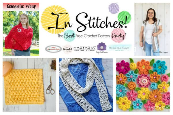 In Stitches - Best Free Crochet Pattern Party for Flowers, Cardigans, Tutorials, Shawl, Wrap and Scarf