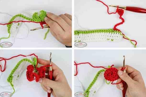 Rosebud Crochet Stitch Pattern Tutorial