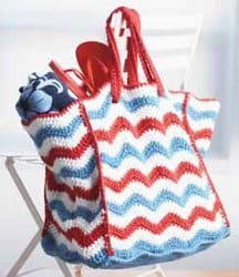 4th of July Beach Bag - American Flag