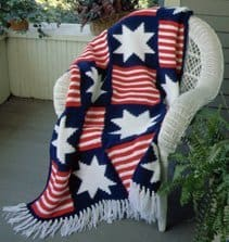 4th of July Afghan - American Flag