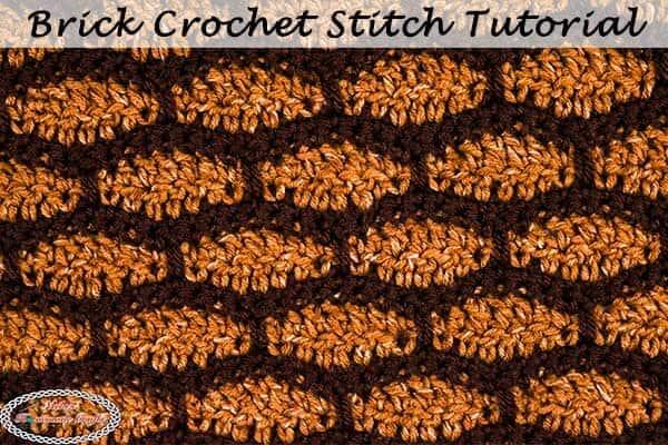 Brick Crochet Stitch also looks like the Tile Stitch