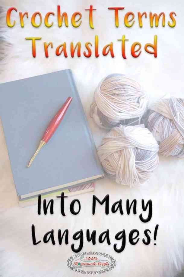 Crochet Terms Translated into 9 languages