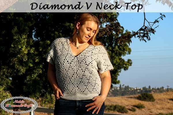 Crochet Pattern for Diamond V Neck Top