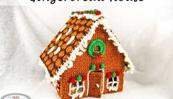 gingerbread house free crochet along christmas in july
