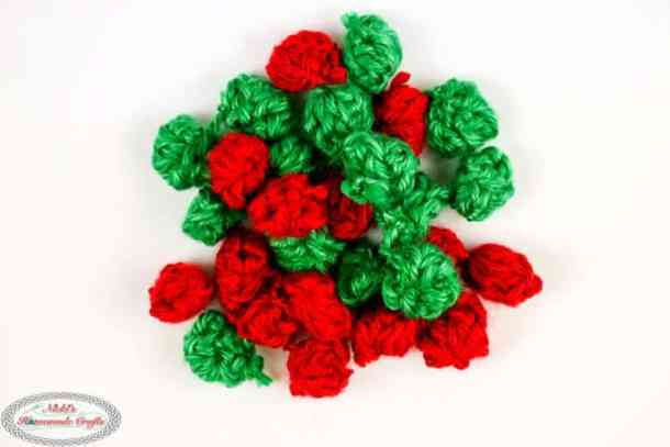 Gumdrops in red and green