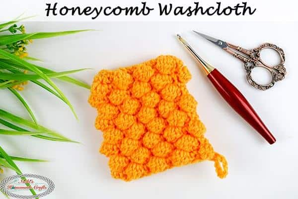 Honeycomb Washcloth Crochet Pattern Free