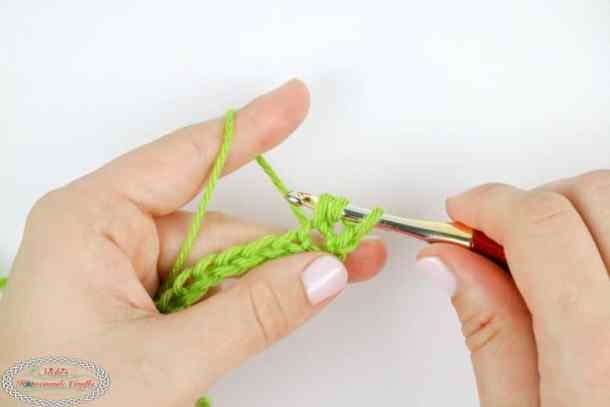 tutorial for a double crochet