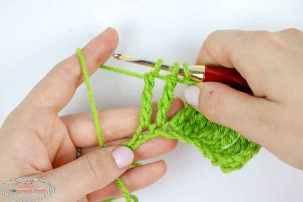 Double Treble Crochet Decrease tutorial