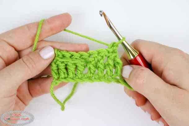 front post and back post double crochet