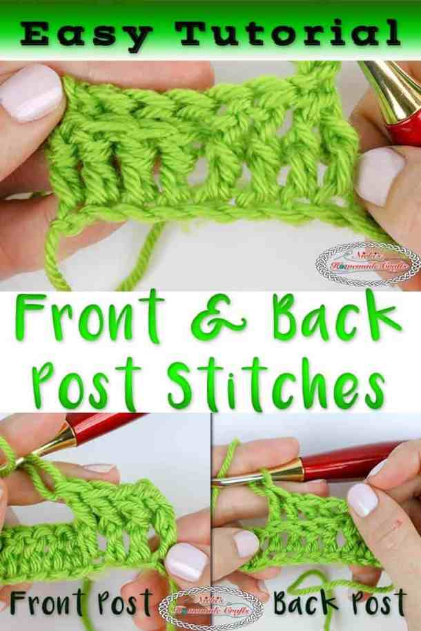 Learning the Front and Back Post Stitch using double crochet