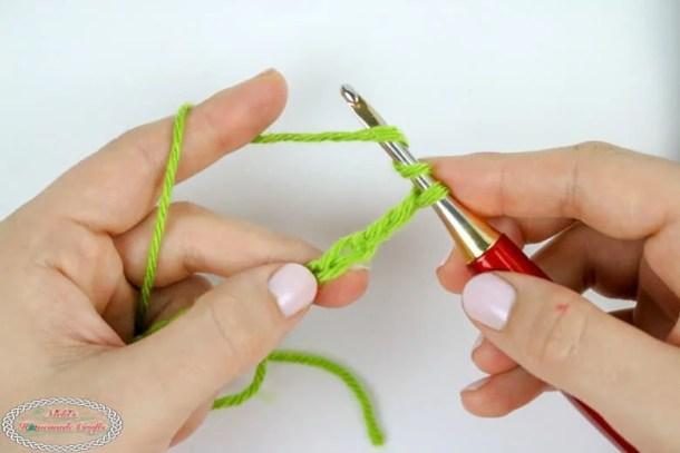 Starting the Treble Crochet