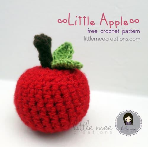 little apple free crochet pattern back to school