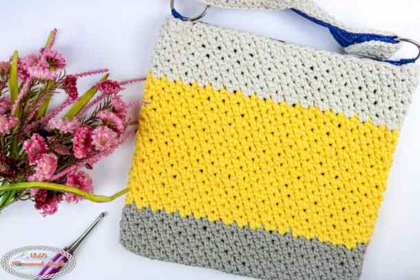 Simple Summer Crochet Bag With Fabric Lining Free Crochet Pattern