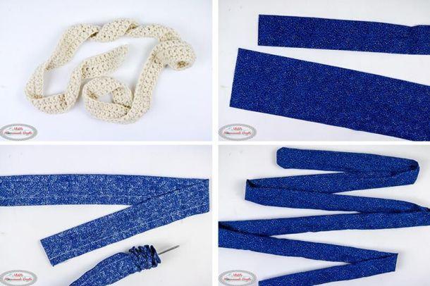Simple Summer Crochet Bag - making the strap