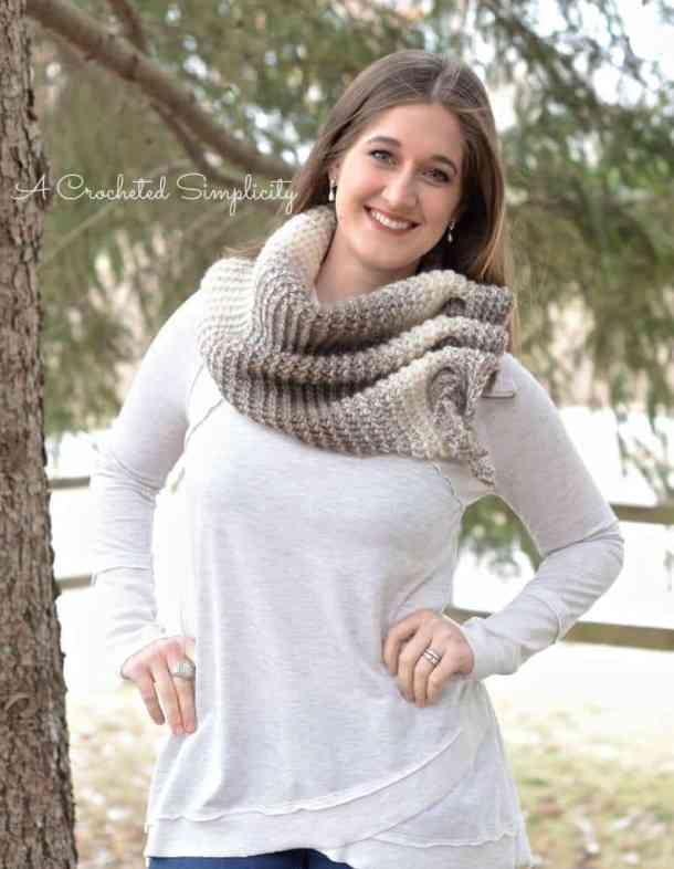 aveline reversible scarf free crochet pattern