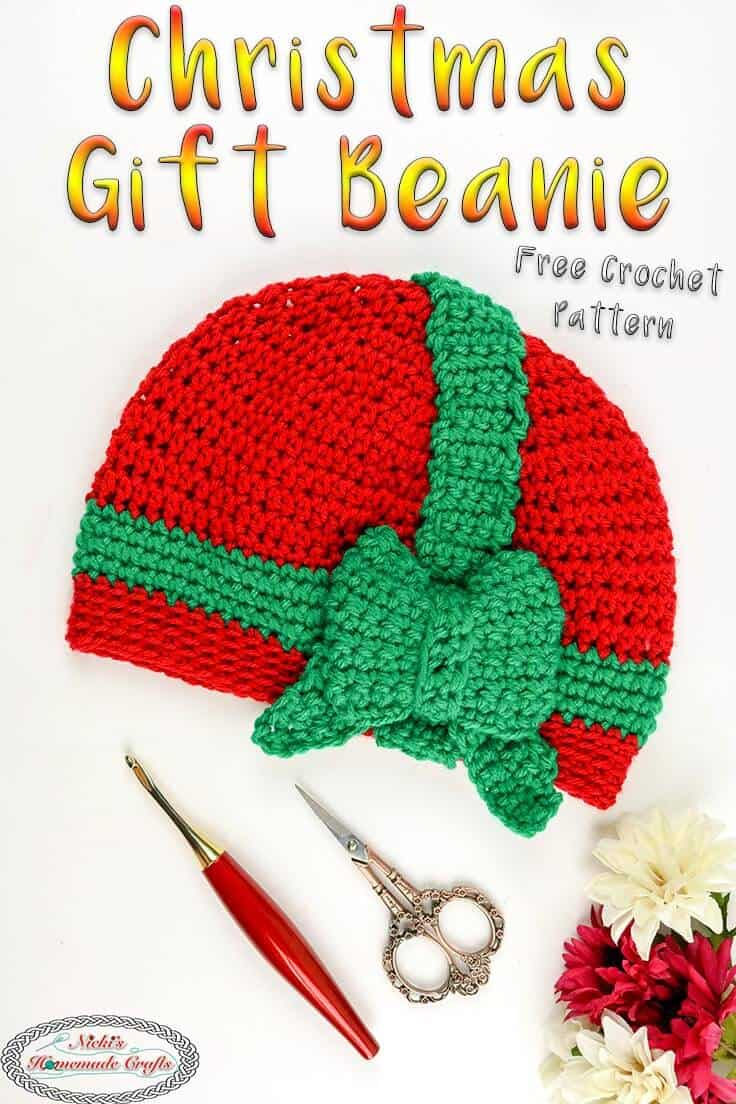 christmas gift beanie free crochet pattern for all sizes