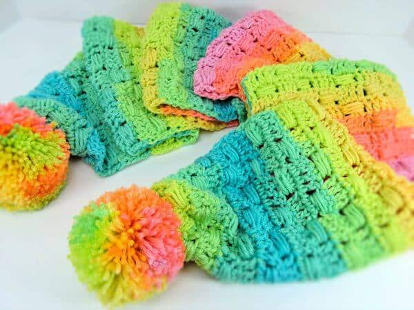 unicorn tracks scarf free crochet pattern