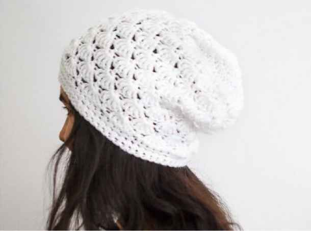 Crochet Shell Slouch