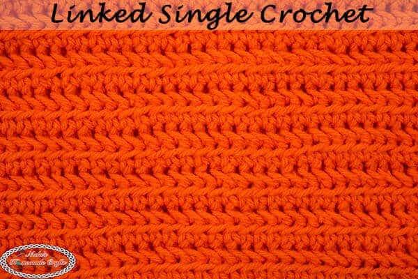 How To Crochet The Linked Single Crochet Photo Video Tutorial
