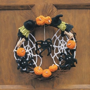 fall halloween free crochet pattern wreath