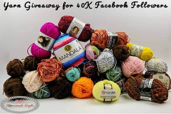 Yarn Giveaway for 40K Facebook Followers