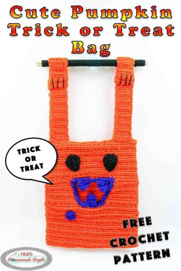 Crochet Trick or Treat Bag as cute Pumpkin