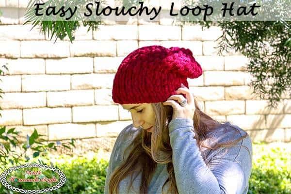 Easy Slouchy Loop Hat Free Pattern Using Loop Yarn