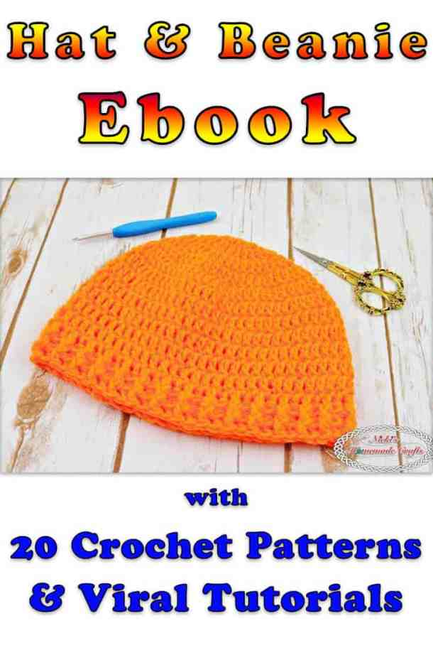 Hat and Beanie Crochet Pattern Ebook plus Viral tutorials