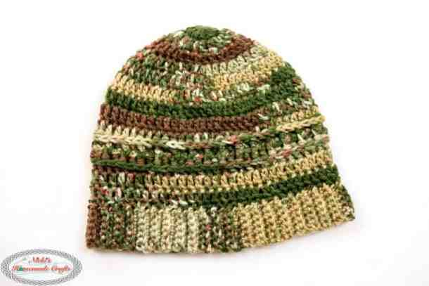 Military Beanie Camouflage - Free Crochet Pattern