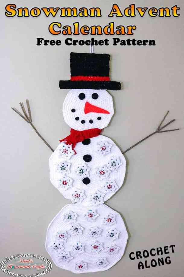 Snowman Advent Calendar Wall Hanging