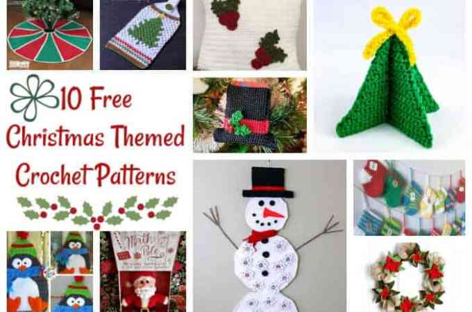 10 Free Christmas Themed Crochet Patterns