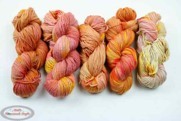 Dyed Yarn Naturally with Beet Juice, Spices and Food Coloring