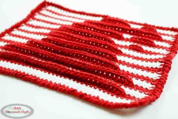 Shadow Crochet aka Illusion Crochet side view