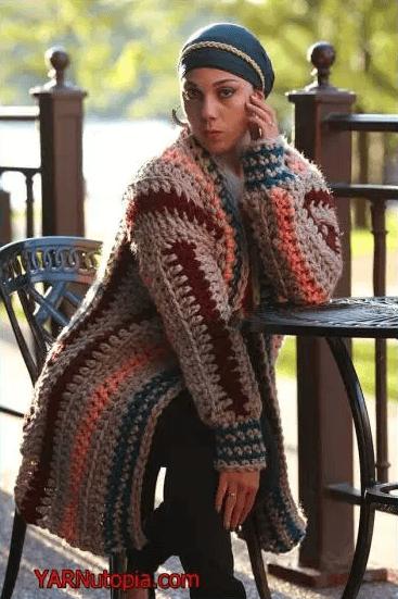 Autumn Night Crochet Cardigan