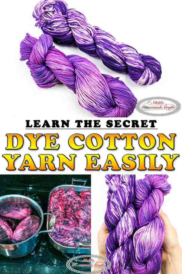 Dye Cotton Yarn with Rit Dye easy and fast